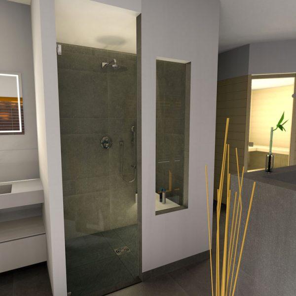 Badezimmer mit Dusche - Entwurf